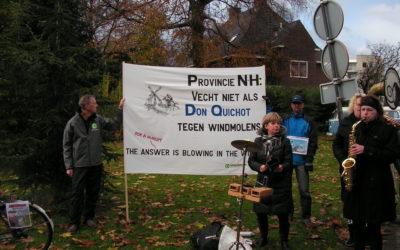 Fietstocht voor meer windmolens in N-Holland