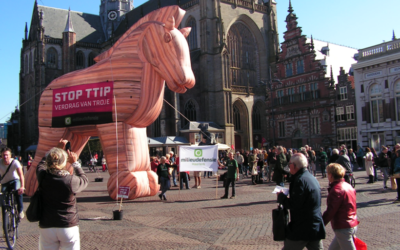 TTIPpaard van Troje was even in Haarlem