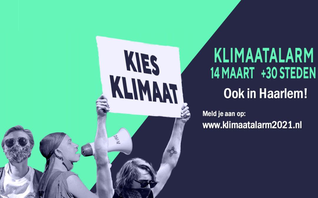 KLIMAATALARM ook in Haarlem: laat je horen op zondagmiddag 14 maart!